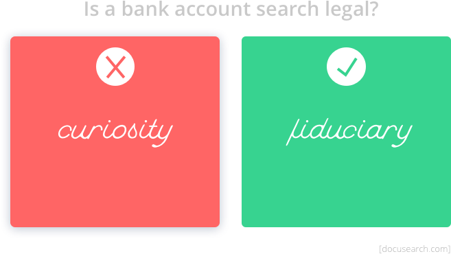 When Is A Bank Account Search Legal? - Docusearch.com